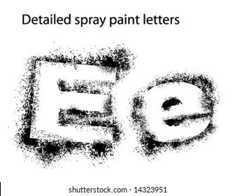 Detailed Spray Paint Font Ee