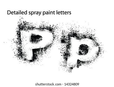 detailed spray paint font pp