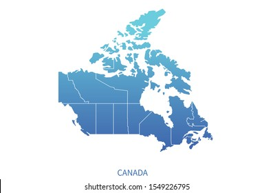 detailed vector of canada map. north america country map.
