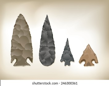 Detailed Vector drawing of 4 / Arrowheads / easy to edit layers and groups, no transparencies blends or effects used. Mesh only used in background layer, easy to isolate arrowheads from background