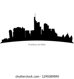 Detailed vector Frankfurt skyline. Frankfurt am Main