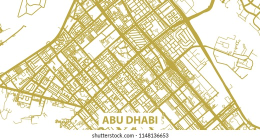 Abu Dhabi Map Images, Stock Photos & Vectors | Shutterstock