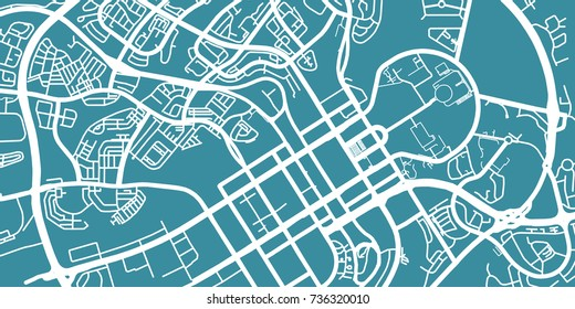 Detailed vector map of Abuja, scale 1:30 000, Nigeria