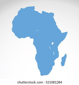 Detailed vector map of Africa White background.