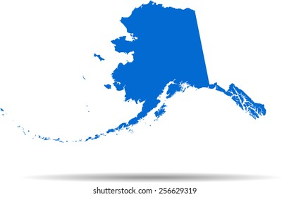 Detailed vector map of the Alaska