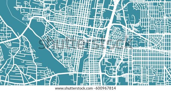 Detailed vector map of Albuquerque, scale 1:30 000, USA