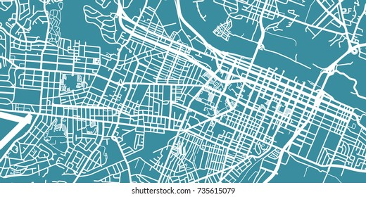 Detailed vector map of Augusta, scale 1:30 000, USA