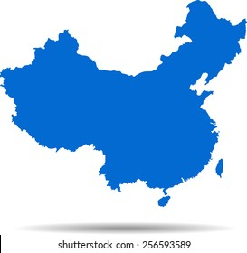 Detailed vector map of the china