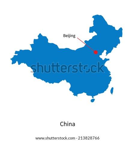 Detailed Vector Map China Capital City Stock-Vrgrafik ... on