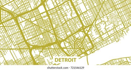 Detroit Map Images, Stock Photos & Vectors | Shutterstock on