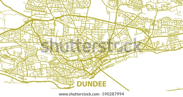 Detailed Vector Map Dundee Based On Stock Vector (Royalty Free ... on