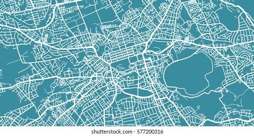 Detailed vector map of Edinburgh, scale 1:30 000, Scotland