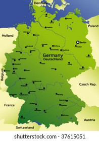 Map Of Germany And Holland.East Germany Map Images Stock Photos Vectors Shutterstock