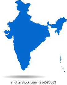 Detailed vector map of the India