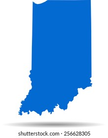 Detailed vector map of the Indiana
