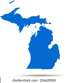 Detailed vector map of the Michigan
