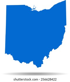 Detailed vector map of the Ohio