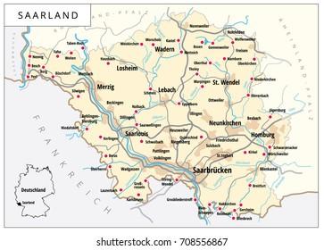 Denmark Road Map Stock Vector 389434057 Shutterstock