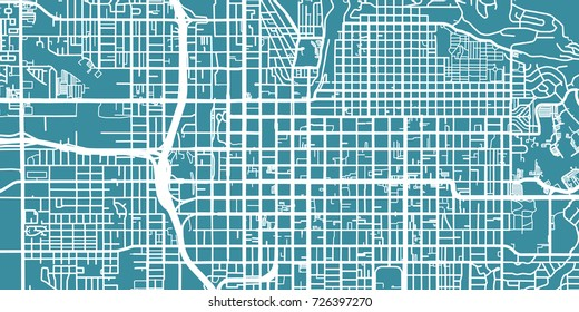 Detailed vector map of Salt Lake City, scale 1:30 000, USA
