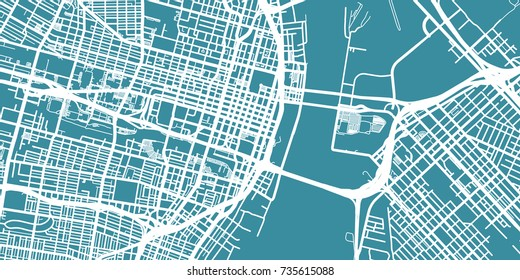 Detailed vector map of St. Louis, scale 1:30 000, USA