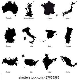 Detailed Vector maps set 1