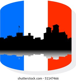 Detailed vector silhouette  city