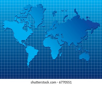 A detailed vector world map background with space for text