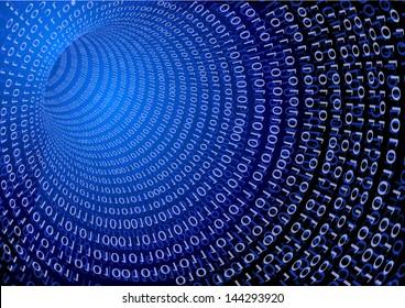 detailed visualisation for information interchange, internet technology concept, eps 10 vector