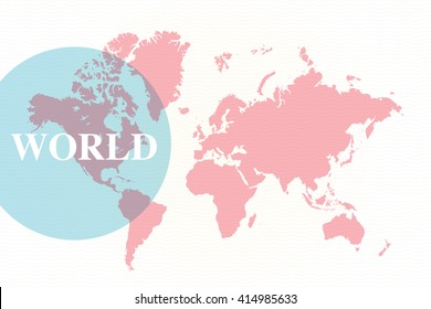Detailed World Map (all countries are fully editable)