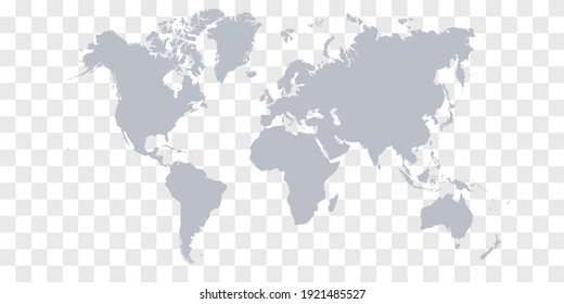 Detailed World Map with Countries stock illustration