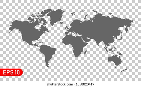Detailed world map. Vector illustration. EPS 10