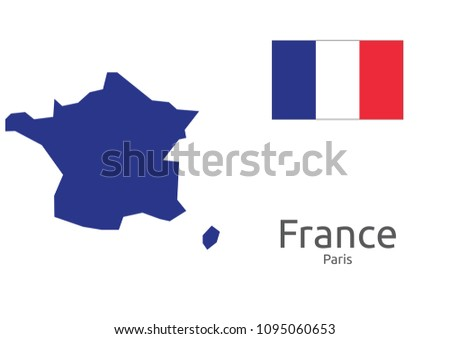 Capital Of France Map.Details France Map Flag Capital Stock Vector Royalty Free
