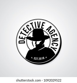 Detective agency badge design. Vector illustration