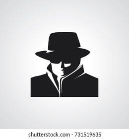 Detective agent icon. Vector illustration