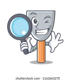 Detective character putty knife isolated
