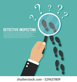 Detective inspecting