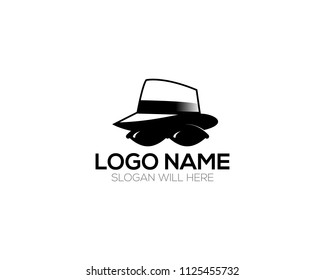 Detective logo template vector illustration
