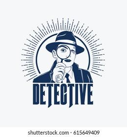 detective logo vector
