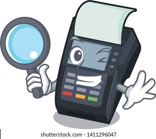 Detective machine EDC isolated in the mascot