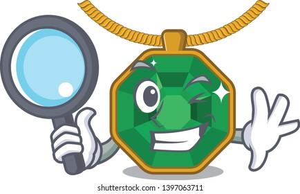 Detective peridot jewelry in a cartoon box