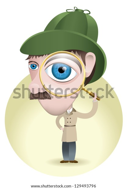 A detective searching for the smallest clues to solve the mystery with his magnifying glass.