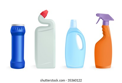 detergents - vector illustration