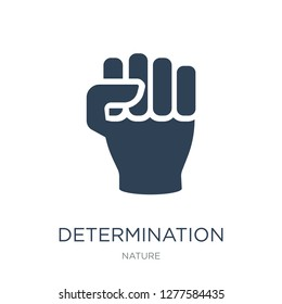 determination icon vector on white background, determination trendy filled icons from Nature collection, determination vector illustration
