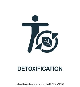 Detoxification icon. Simple illustration from healthy lifestyle collection. Creative Detoxification icon for web design, templates, infographics