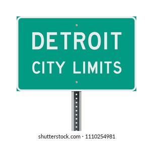 Detroit City Limits road sign