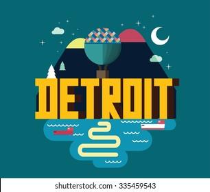Detroit city in Michigan