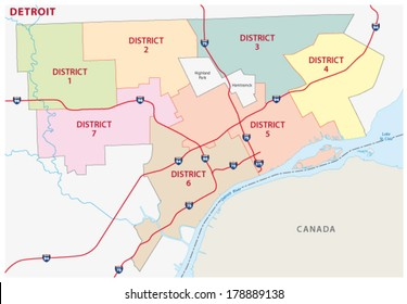 detroit district map