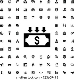 Devaluation icon. set of filled business icons. can be used for web and mobile.