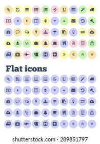 Developer collection of design elements. Icons and buttons