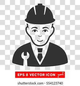 Developer EPS vector pictogram. Illustration style is flat iconic gray symbol on chess transparent background.